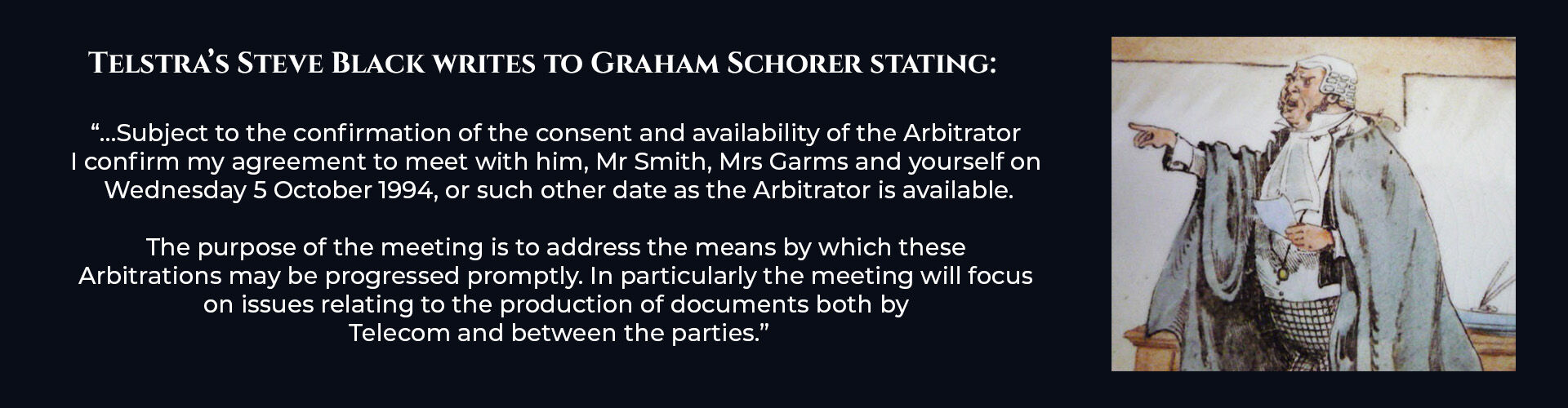 Absent Justice - Arbitrator Agreement