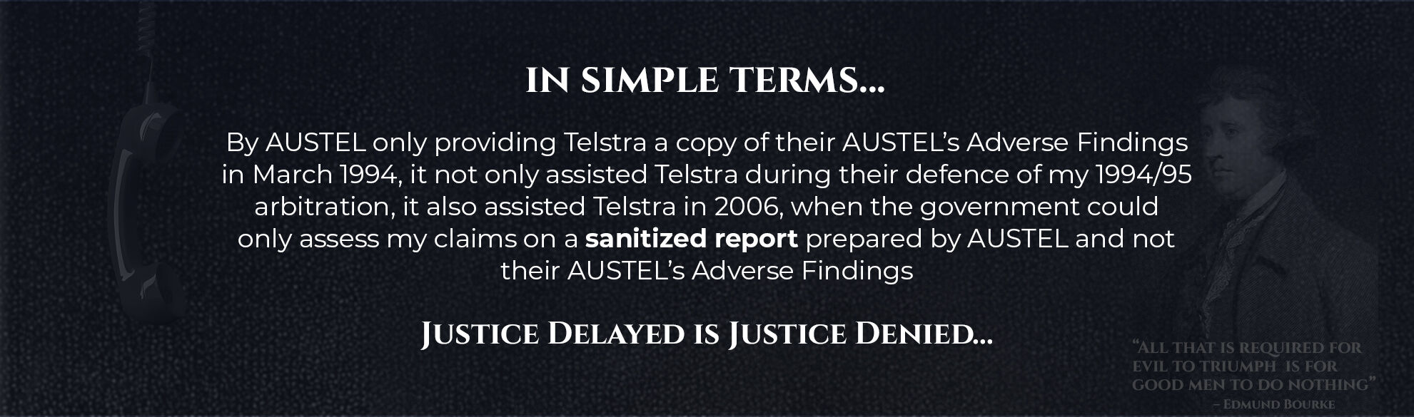 Absent Justice - In Simple Terms