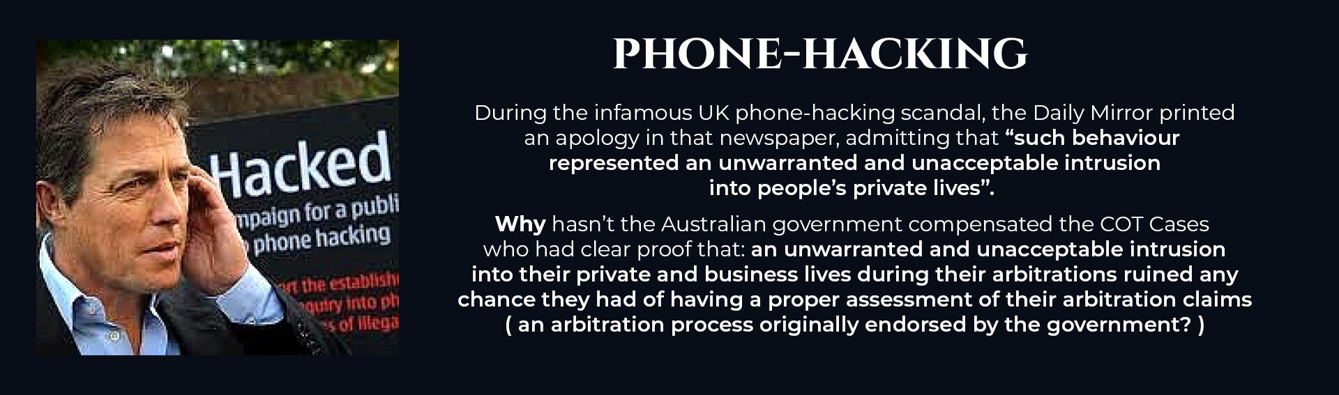 Absent Justice - Phone Hacking