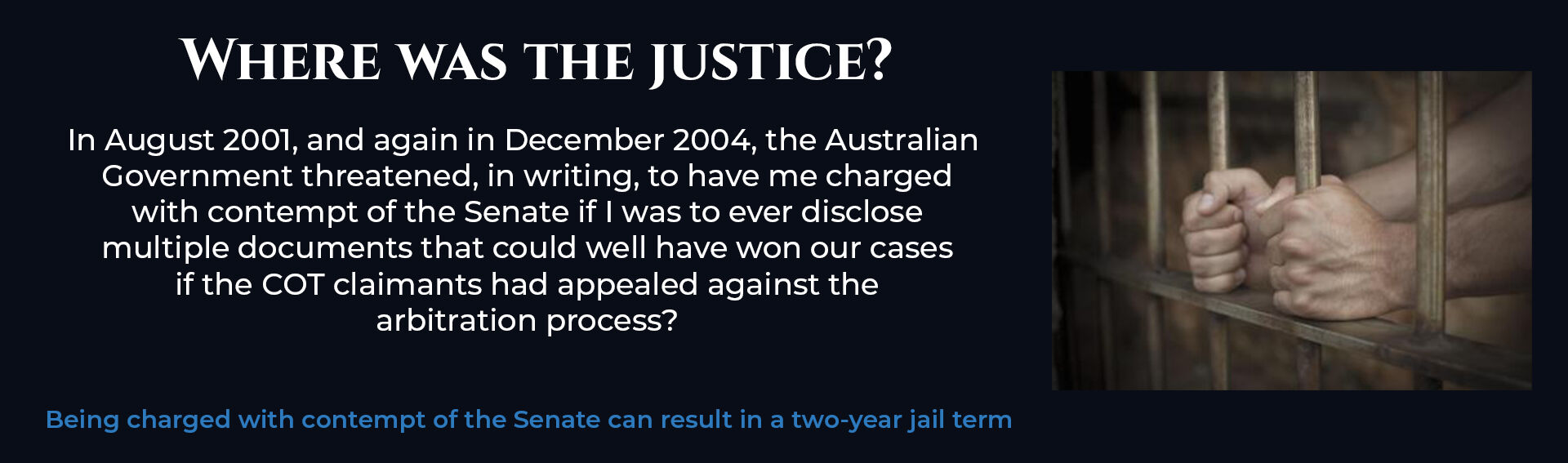 Absent Justice - Where was the Justice