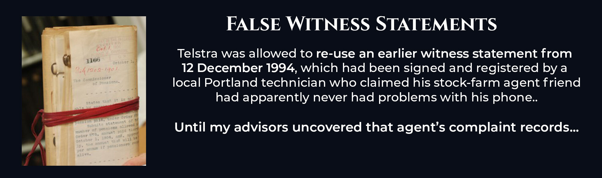 Absent Justice - False Witness Statements