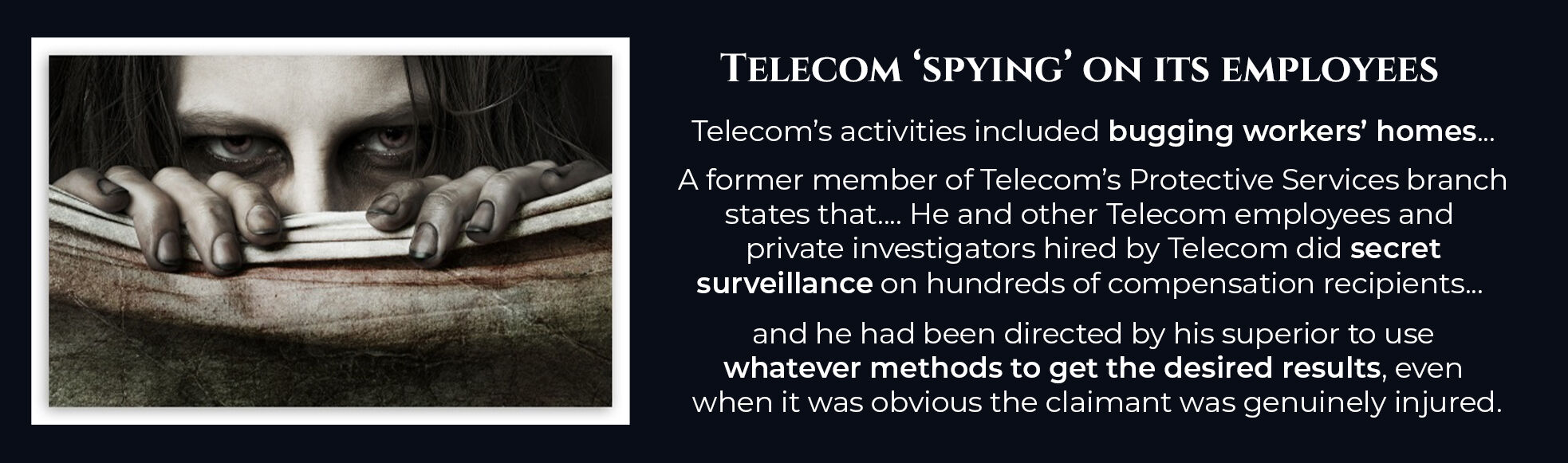 Absent Justice - Telstra Spying on its Employees