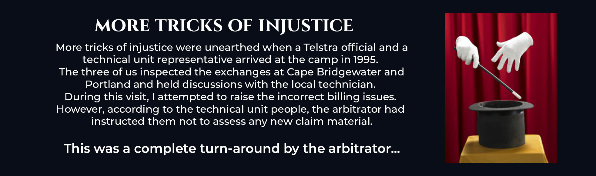 Absent Justice - Tricks of Injustice