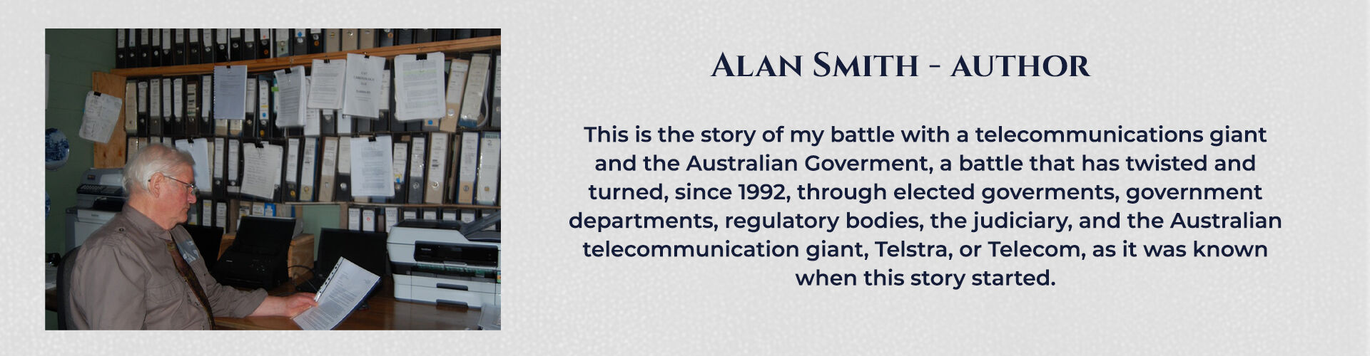 Absent Justice - My Story - Alan Smith