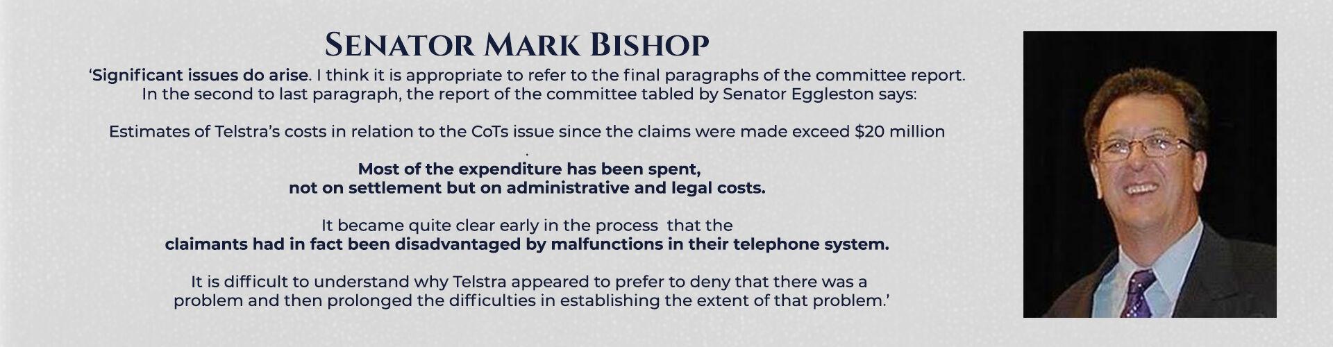 Absent Justice - Senator Mark Bishop