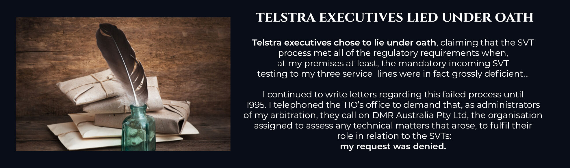 Absent Justice - Telstra Executives Lied under oath