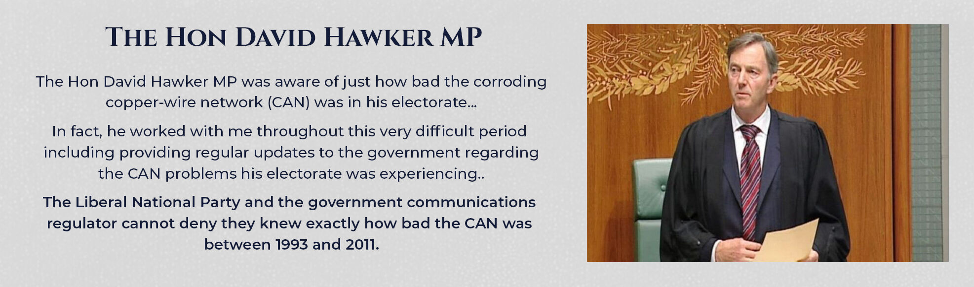 Absent Justice - The Hon David Hawker MP